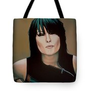 Chrissie Hynde Painting Tote Bag