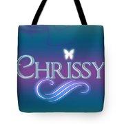 Chrissy Name Art Tote Bag