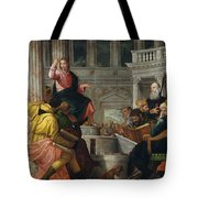 Christ Among The Doctors In The Temple Tote Bag