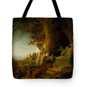 Christ And St Mary Magdalen At The Tomb Tote Bag