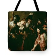 Christ And The Adulteress Tote Bag