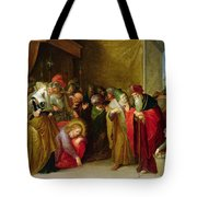 Christ And The Woman Taken In Adultery Tote Bag