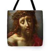 Christ As The Man Of Sorrows Tote Bag by Carlo Dolci