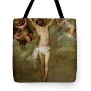 Christ Attended By Angels Holding Chalices Tote Bag