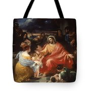 Christ Blessing The Little Children Tote Bag
