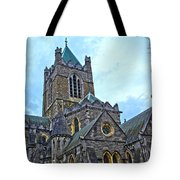 Christ Church Cathedral In Dublin Tote Bag