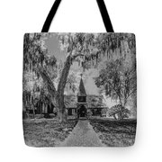 Christ Church Etching Tote Bag by Debra and Dave Vanderlaan