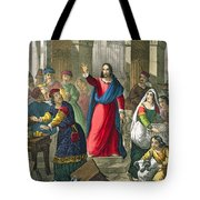 Christ Cleanses The Temple Tote Bag