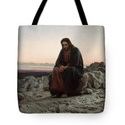 Christ In The Wilderness Tote Bag