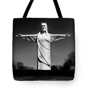 Christ Of The Ozarks Tote Bag by Benjamin Yeager
