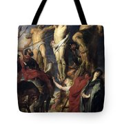 Christ On The Cross Between The Two Thieves Tote Bag