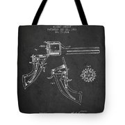 Christ Revolver Patent Drawing From 1866 - Dark Tote Bag