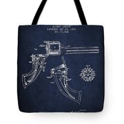 Christ Revolver Patent Drawing From 1866 - Navy Blue Tote Bag