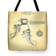 Christ Revolver Patent Drawing From 1866 - Vintage Tote Bag