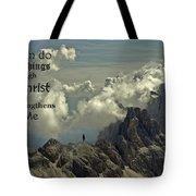 Christ Strengthens Me Tote Bag