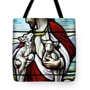 Christ The Good Shepherd With His Flock Tote Bag