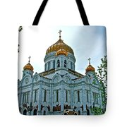 Christ The Savior Cathedral In Moscow-russia Tote Bag
