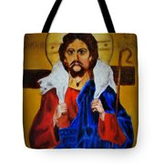 Christ With A Lamb Tote Bag