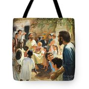 Christ With Children Tote Bag