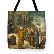 Christ With The Adulterous Woman Tote Bag