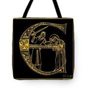 Christian Initial Letter E Tote Bag