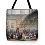 Christies Auction Room, Illustration Tote Bag