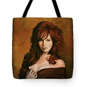 Christina Hendricks Painting Tote Bag