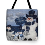 Christmas - Snowmen Collection - Family - Peace - Snow Tote Bag