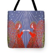 Christmas 77 Tote Bag by Gillian Lawson