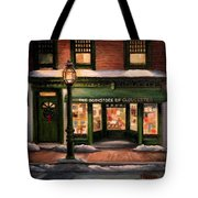 Christmas At The Bookstore Of Gloucester Tote Bag