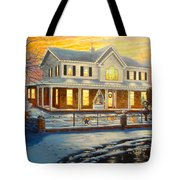 Christmas At The Hibbard's Tote Bag