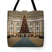 Christmas At West Baden Tote Bag by Sandy Keeton
