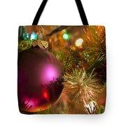 Christmas Ball Ornament Purple 1 Tote Bag