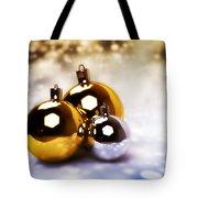 Christmas Balls Gold Silver Tote Bag