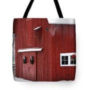 Christmas Barn 3 Tote Bag