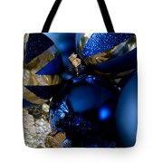 Christmas Blue Tote Bag