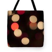 Christmas Bokeh Lights Tote Bag