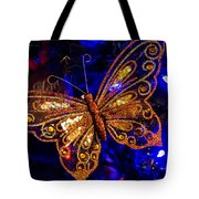 Christmas Butterfly Tote Bag