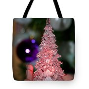 A Christmas Crystal Tree In Pink  Tote Bag
