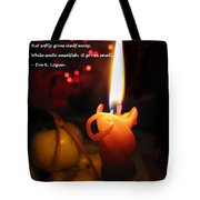 Christmas Candle Greeting Tote Bag
