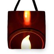 Christmas Candle Reflection Tote Bag