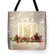Christmas Candles Tote Bag