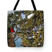 Christmas Cardinal Tote Bag