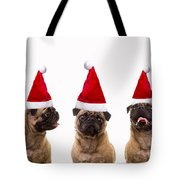 Christmas Caroling Dogs Tote Bag
