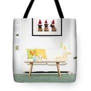 Christmas Caroling Pug Tote Bag by Edward Fielding