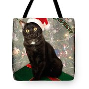 Christmas Cat Tote Bag by Adam Romanowicz
