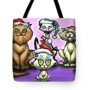 Christmas Cats Tote Bag