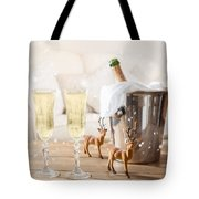 Christmas Champagne Tote Bag