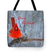 Christmas Red Cardinal Tote Bag
