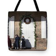 Christmas Conversation At The Courthouse Tote Bag
